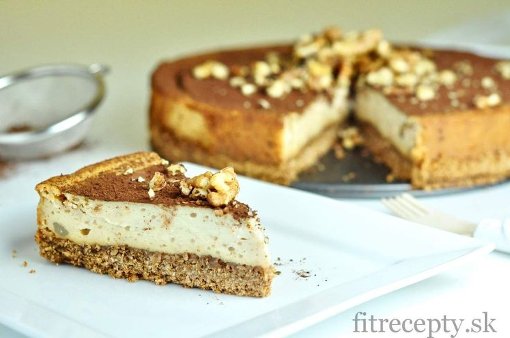 Fit gaštanovo-medový cheesecake - FitRecepty