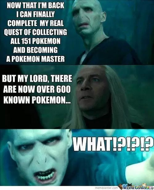 Voldemort collects Pokémon!
