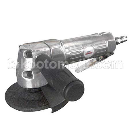 """Nama : Air Angle Grinder (Trigger) 4"""" Merk : WIPRO Tipe : RP-7319 Status : Siap (B) Berat Kirim : 3 kg alat ini berguna untuk memoles atau menghaluskan bekas las agar terlihat lebih bagus."""