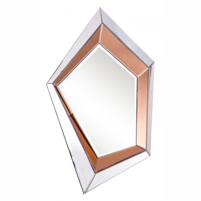 Elegant Lighting Mr 3123 Modern Wall Mirror Hue Copper And Rose