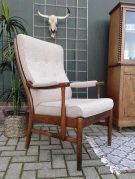 Farstrup fauteuil Scandinavisch design stoel Deens retro
