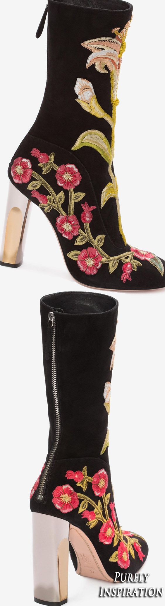 Alexander McQueen embroidered boot | Purely Inspiration