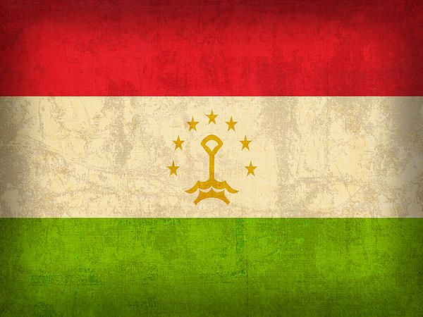 Tajikistan Flag Vintage Distressed Finish