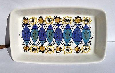 Clupea rectangular DISH Figgjo Flint Sauce boat Turi Gramstad Norway vintage in Pottery, Glass | eBay