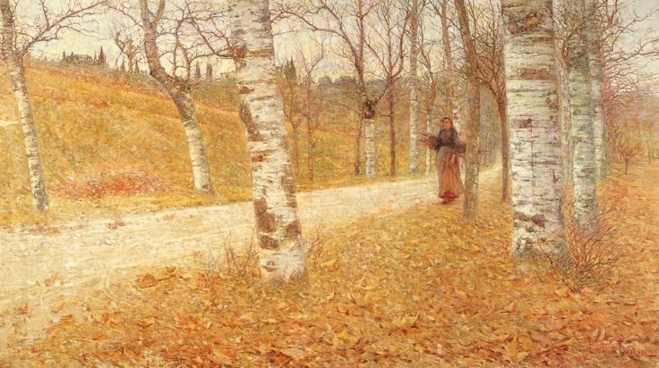 Landscape with peasant and trees, Giovanni Fattori. Italian Realist Painter (1825 - 1908) Via:  Cultura Italia