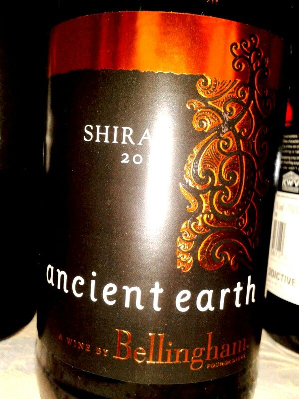 Ancient earth, Bellingham, Shiraz 2011. Blind tasting at Intro to wine course with Penny Lancaster. Durban, South Africa.