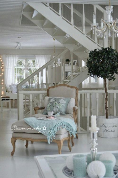 Vintage White Stairs.