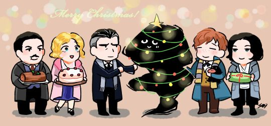 its late for X'mas but still post it XD Fantastic Beasts version!