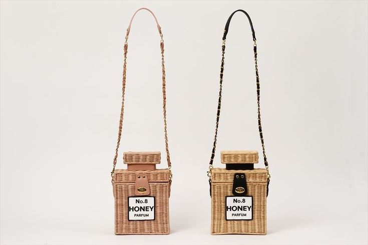 "Trying to find something to add to your look that's as unique as it is fashionable? Look no further! From Honey Salon's 2016 Spring & Summer collection comes a shoulder bag featuring a romantic perfume bottle shape! Made using rattan and synthetic leather, it's a sweet recreation, all the way down to the perfume name (No. 8 Honey) on the front, and at 7.1"" by 10.6"" by 3.9"", it's plenty room en... #jfashion #kawaii"