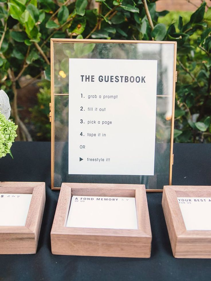 Your guests will be surprised in the best way possible when you ask them to leave their names and well-wishes on one of these alternatives to the traditional wedding guest book.