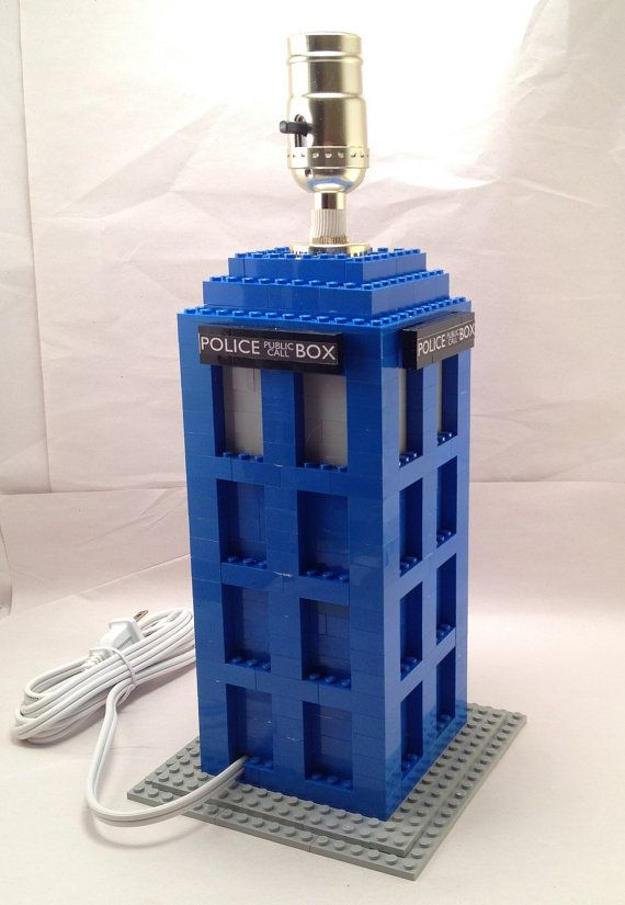 Blue LEGO Doctor Who Tardis themed nightstand / by BrickABlocks