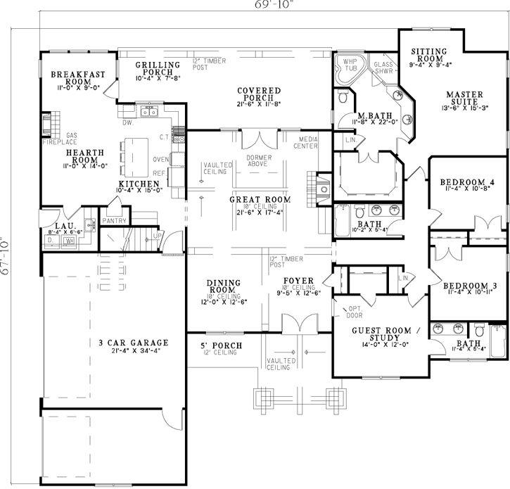 2 Story Dream House Floor Plans 159 best house plans images on pinterest | dream house plans, home
