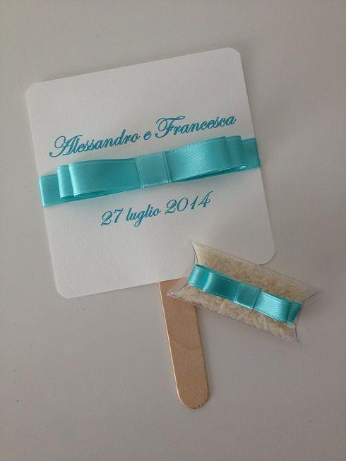 ventaglio matrimonio e scatolina riso www.partecipazioniebomboniere.com