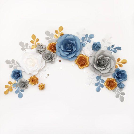 Matrimonio arco  arco del fiore di carta  carta di MioGallery