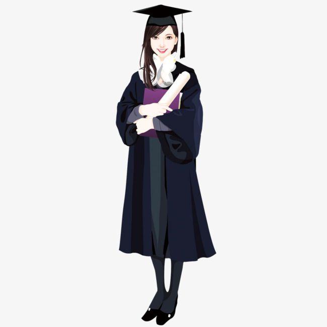 Cartoon Wear Bachelor S Graduation Female Student Vector College Student Graduation Cartoon Png Transparent Clipart Image And Psd File For Free Download Graduation Cartoon Graduation Cap Drawing Graduation Girl