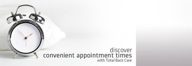 Discover convenient appointment times with total back care | totalbackcare.com.au