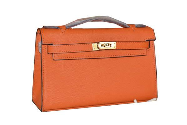 Hermes MINI Kelly 22cm Tote Bag Calfskin Leather Orange - $199.00