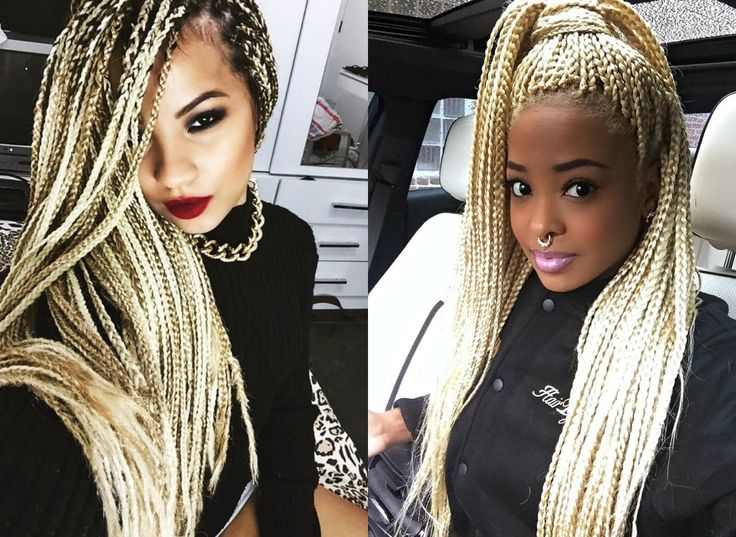 Hair color trends 2017 - Hottest Box Braids Natural Hair Colors 2017 Blonde Box