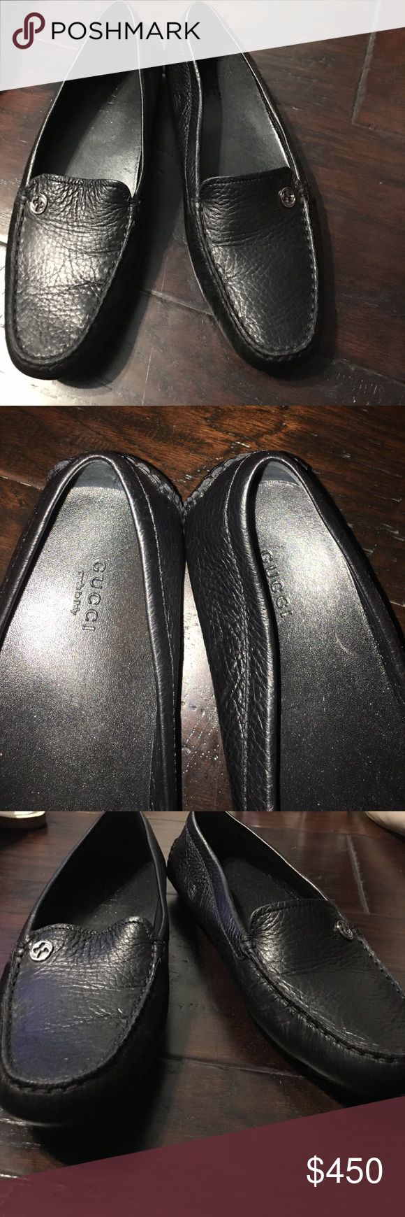 Black Gucci Loafers Black GUCCI loafers. Great condition and amazing price for the original! Offers are welcome :)! Gucci Shoes Flats & Loafers