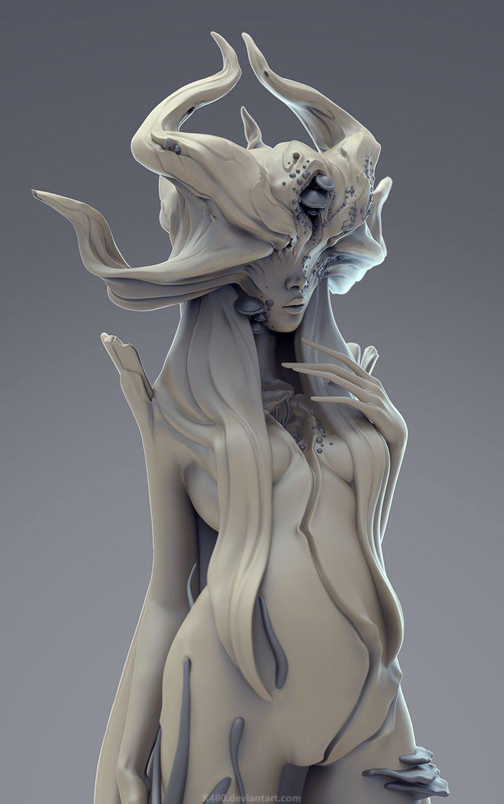 Forest Maiden http://k4ll0.deviantart.com/art/Forest-Maiden-sculpt-569075066