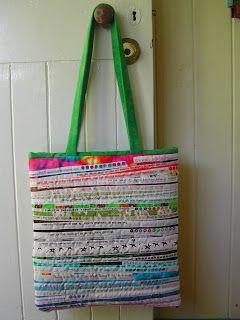 Linda Robertus: Bag from selvedge strips
