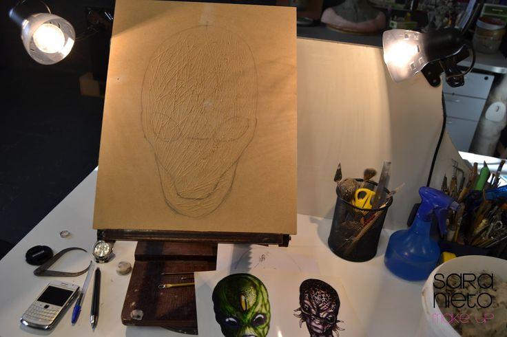 Sara Nieto Make Up BLOG: Cómo realizar paso a paso una máscara de látex (MASK MAKING )