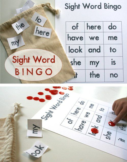 {Sight Word Bingo + Free Printable} Mastering these words is an important part of learning how to read. *make learning part of a family-fun night