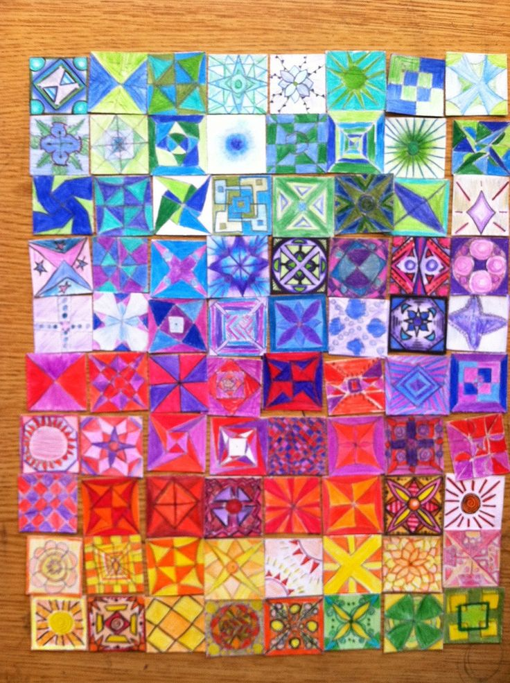 'New Eyes' paper quilt | Classroom art project at daVinci Ar… | Flickr - Photo Sharing!