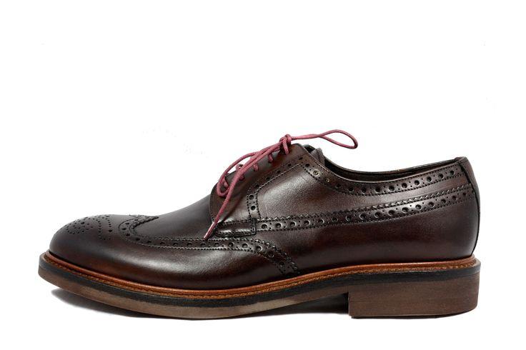 Pantofi barbatesti maron Hispanitas din piele naturala 100%