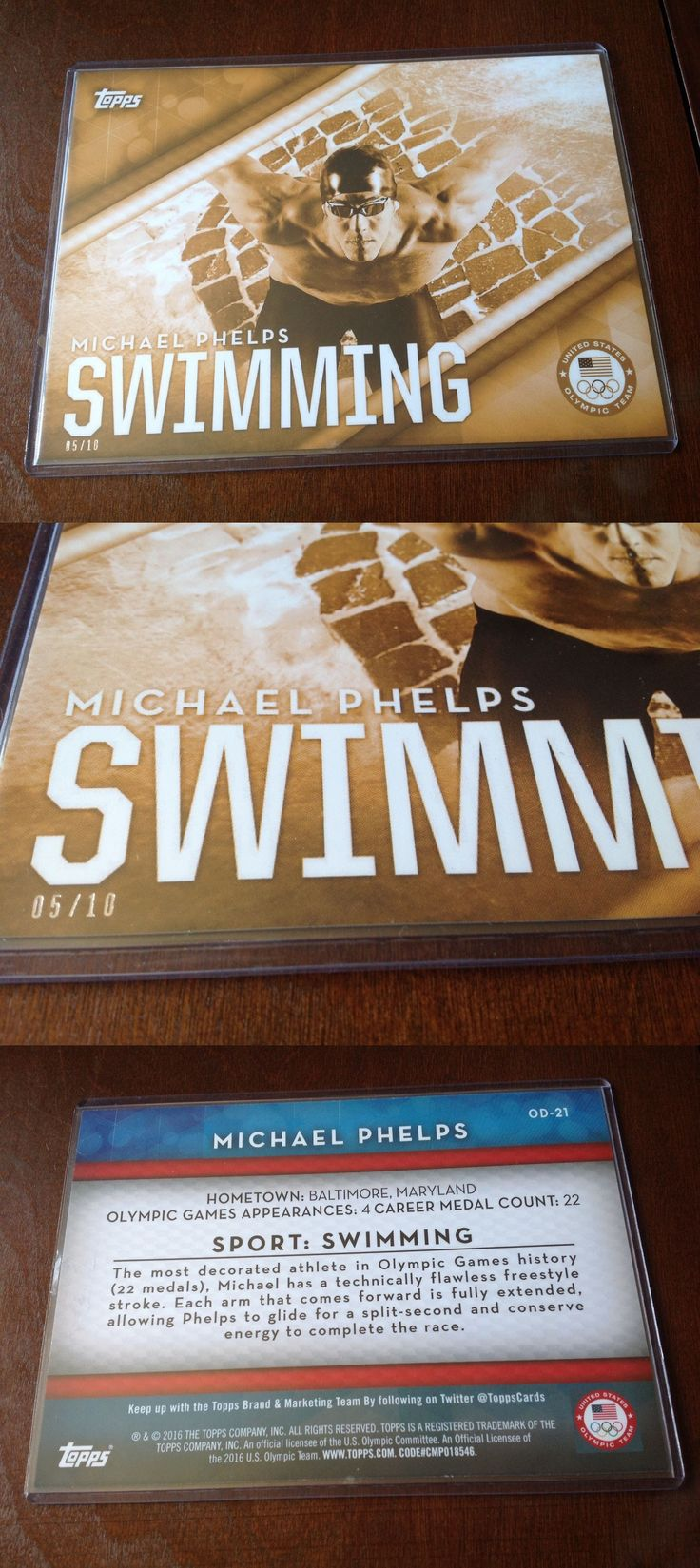 Olympics Cards 2956: 2016 Topps Jumbo 5X7 Michael Phelps Ser# D 5 10 Olympics Large Card Swimming -> BUY IT NOW ONLY: $79.99 on eBay!