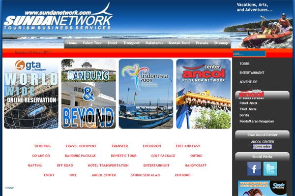Web Design   Sunda Network   Travel Agency   Bandung Indonesia