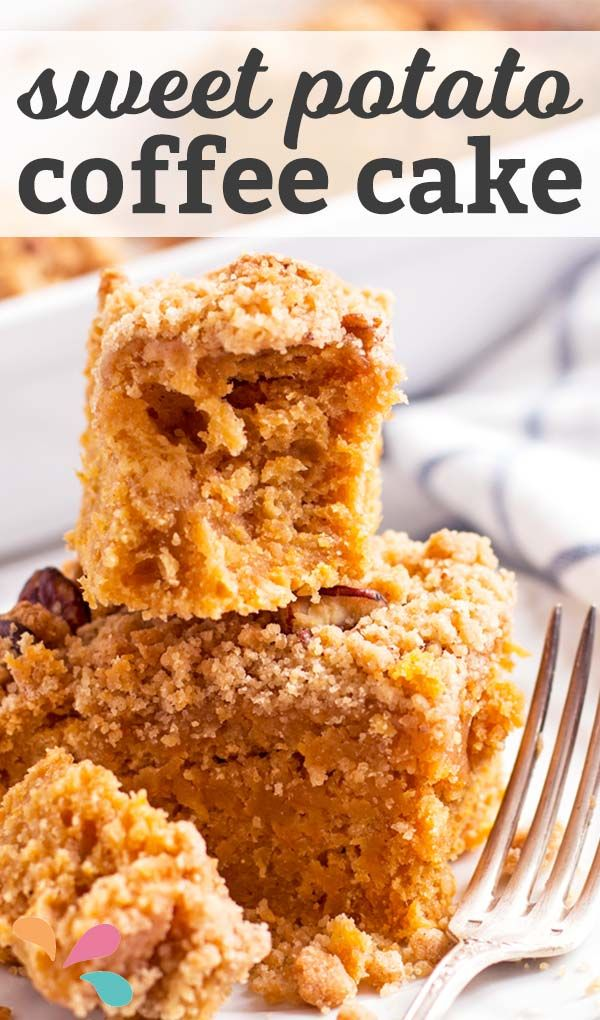 This easy sweet potato cake recipe is a cross between a coffee cake and a quick bread - perfect for a weekend fall breakfast. The pecan streusel is amazing!