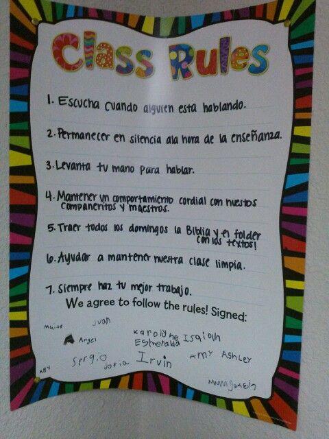 Escuela dominical reglas otras cosas que me encantanmom for 5 reglas del salon de clases