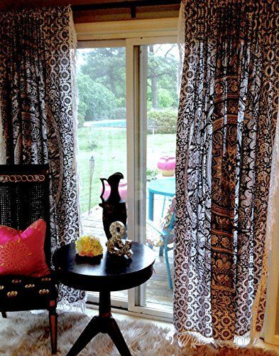Boho Living Room Curtains Bohemian Curtains For Bedroom Tapestry
