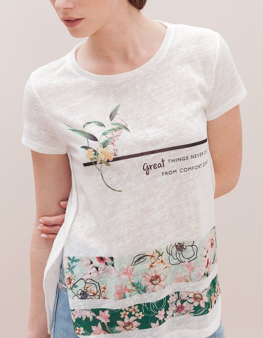 At Stradivarius you'll find 1 Flower top for woman for just 9.95 € . Visit now to discover this and more T-SHIRTS.