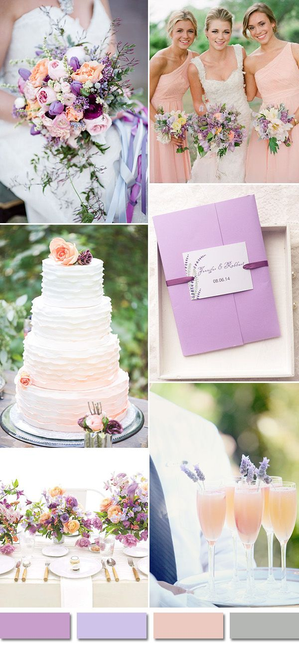 lavender and peach wedding color ideas and pocket wedding invitations for 2016