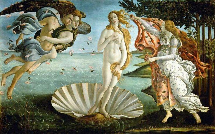 산드로 보티첼리  The Birth of Venus  Tempera on canvas, 172.5x 278.5 c m  Galleria degli Uffizi, Florence    여신 비너스의 탄생을 그린 작품으로 여성의 아름다움의 절정을 보여주고 있는듯하다.  봄을 연상케 하는 여러 장치들이 인생의 봄날인 젊음을 표현하는 것 같다.  많은 여신들의 그림에서 공통적으로 젊은 여성을 모델로 삼은 것은 젊음에 대한 동경이라고 생각한다