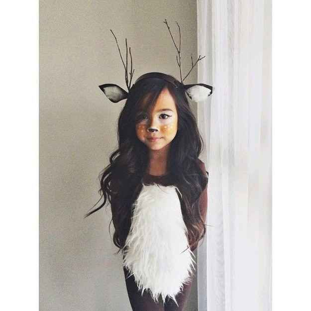 This deer costume is so sweet.  I wish the source were still available. #halloween2016
