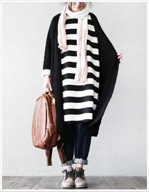 两人出品LRCP | 我们的想象 | 黑白条纹连衣裙-淘宝网
