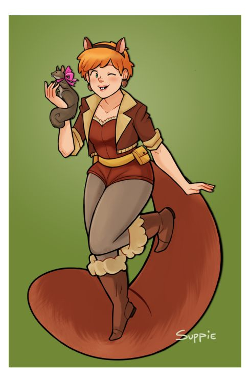 Squirrel Girl - http://suppiedoodles.tumblr.com/