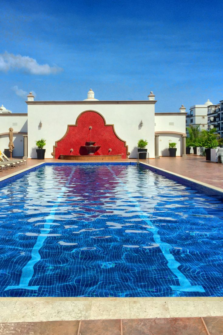 Lap pool at Grand Residences Cancun Mexico