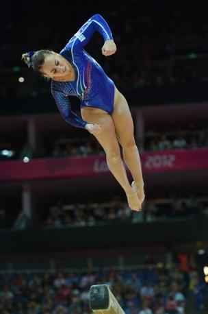 Carlotta Ferlito (Italy) on balance beam at the 2012 London Olympics