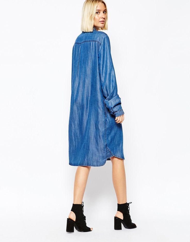 les 25 meilleures id es concernant robe chemise en jean sur pinterest chemises en jean robe. Black Bedroom Furniture Sets. Home Design Ideas