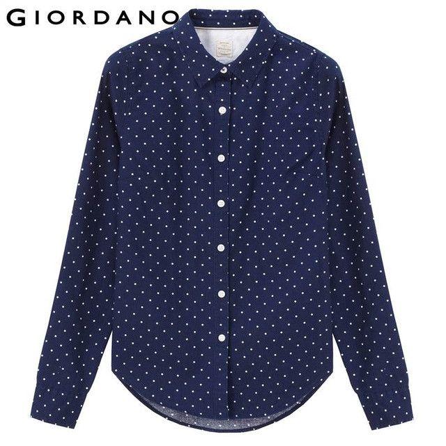 Women Blouse Oxford Roll-up 100% Cotton Casual Shirt for Women Fashion Female Blouses Feminine