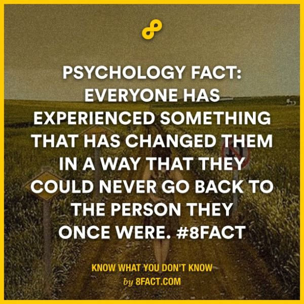 Everyone has experienced something that has changed them in a way that they could never go back.