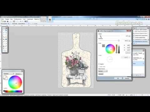 Эскиз работы с кракле в Paint.Net