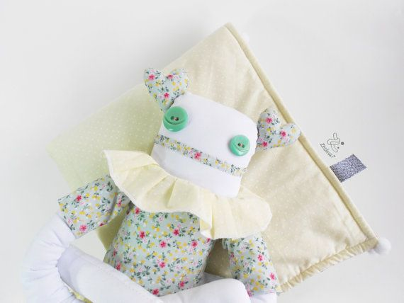 Nursery Decor Baby Gift Set Baby blanket soft doll by Zezling