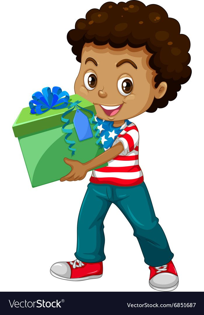 Little Boy Holding A Present Box Download A Free Preview Or High Quality Adobe Illustrator Ai Eps Pdf And High R Art Drawings For Kids Boys Character Design