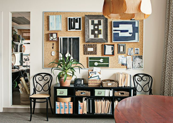 The Great American Designs Of Tom Scheerer Corkboard WallInterior Design OfficesOffice WorkspaceCork BoardsPin Boards