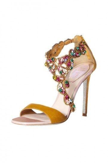 Sandali gioiello dorati